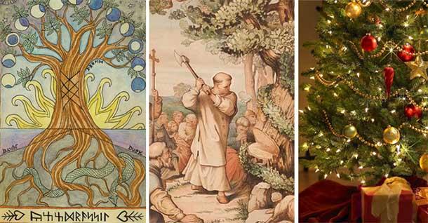 Origen del arbol de navidad celta