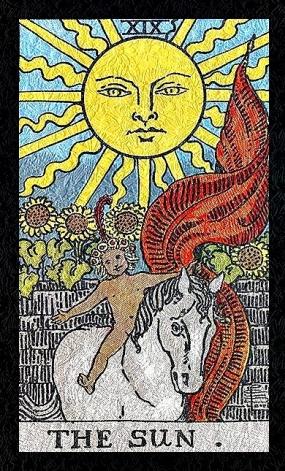 Tarot Rider Waite - El Sol