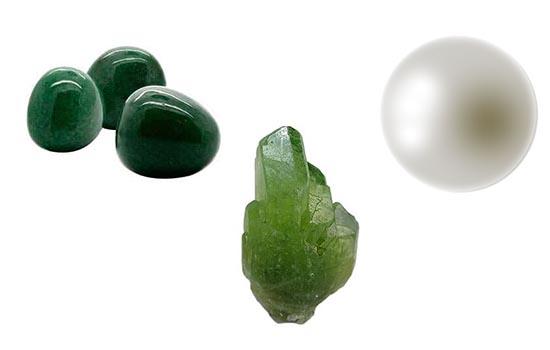 libra, aventurina, olivino, perla, minerales signos zodiacales