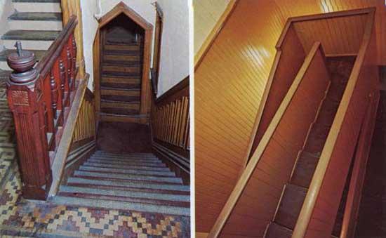 winchester house escalera