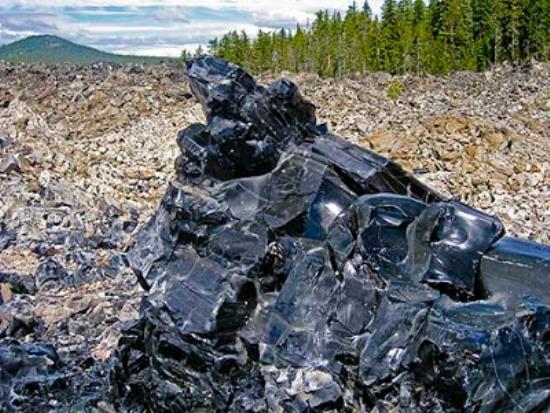 Yacimiento volcánico de Obsidiana