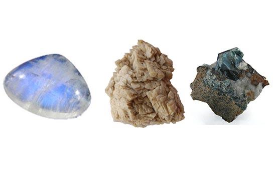 Piedra de Luna, Ankerita, Cloritas