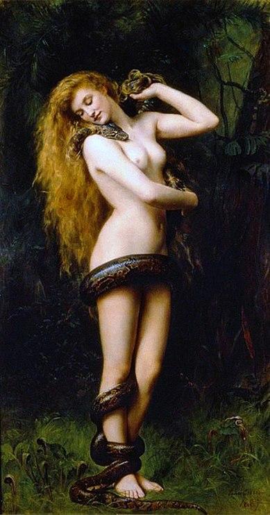 Representación de Lilith (1892), por John Collier
