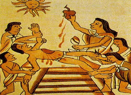 sacrificios aztecas