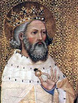 San Eduardo el Confesor. Rey de Inglaterra entre 1042 y 1066