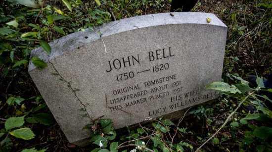 tumba de john bell, asesinato fantasma