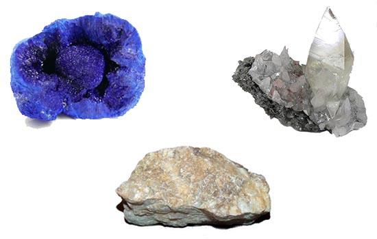 virgo azurita, baritina, calcita, signos zodiacales y piedras
